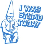 I Was Stupid Today | Poor Little Dunce Retro Geek T-shirt