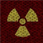Brick Wall Radioactive Sign