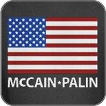 McCain Palin American Flag