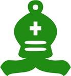 Green Bishop Chess Piece