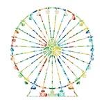 Retro Ferris Wheel Silhouette - circles