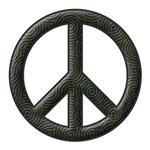 Peace Sign Silhouette