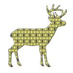 Deer/Elk - Argyle Silhouette