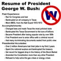 Resume of President George W. Bush