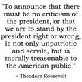 Quote from President Theodore Roosevelt on patriotism.