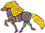 Icelandic horse tangle design