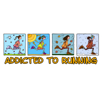 addicted to running (woman)