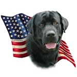 Black Lab Flag