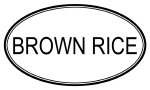 BROWN RICE (oval)