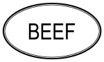 BEEF (oval)