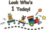 Look Who's 1 Today Choo Choo Train T-Shirts