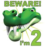 Beware! I'm 2 Alligator 2nd Birthday T-Shirts