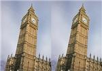 Leaning Big Ben illusion
