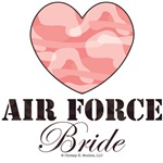 Air Force Wife Brown Pink Camo Heart