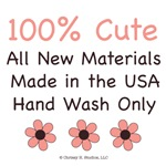 100% Cute Made In USA New Baby Girl Onesies Bib