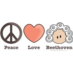 Peace Love Beethoven T-shirt Gifts