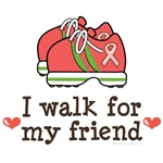 I Walk For My Friend Pink Ribbon T shirt Gear