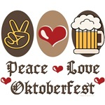 Peace Love Oktoberfest T shirt Gifts