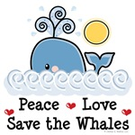 Save the Whale T-shirt and Whale Gifts