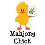 Mahjong Chick T shirt Tees Mahjongg Gifts