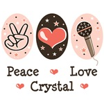 Peace Love Crystal T shirts Tees Gifts