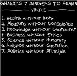 Ghandi says: