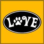 Love Paw Black Oval