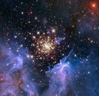 Starburst Cluster Universe Print
