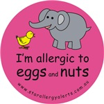 I'm allergic to eggs and nuts-pink