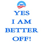 Yes I am better off