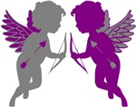 Cupids Gray & Purple