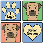 I Love Border Terriers (Grizzle and Tan)