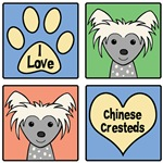 I Love Chinese Cresteds (Gray Chinese Crested)
