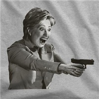 Hillary With A Gat