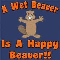 Wet Beaver Is A Happy Beaver