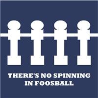 No Spinning in Foosball