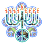 Earth Peace Menorah