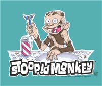 The Stoopid Monkey is shaving his fur away.  He is a wonderful design from Robot Chicken and any fan of the television series will enjoy this Officially Licensed desgin.