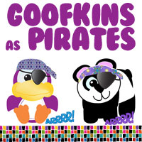 Goofkin Animals Gone Pirate