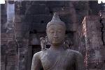 Monkey Whispers to Buddha
