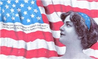 Lady and American Flag