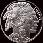 Indian Head Silver on Black