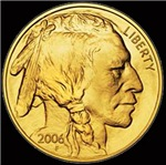 Indian Head Gold on Black