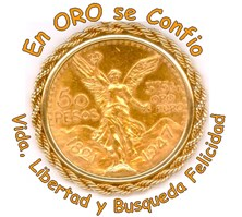 Mexican Gold 50 peso coin & Liberty