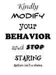 Kindly Modify Your Behavior