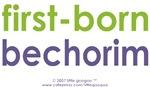 Bi-Lingual 101: first-born, bechorim