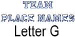 Team Place: Letter G