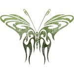 Green Tribal Butterfly Tattoo