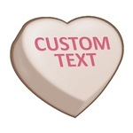 Chocolate Custom Candy Heart
