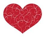 Red Swirly Heart